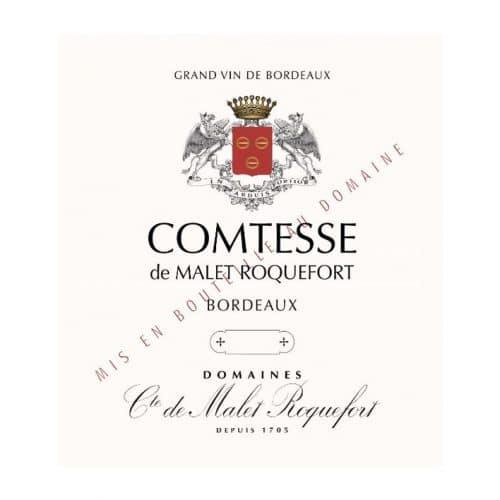 etiquette comtesse malet roquefort deconinckwine