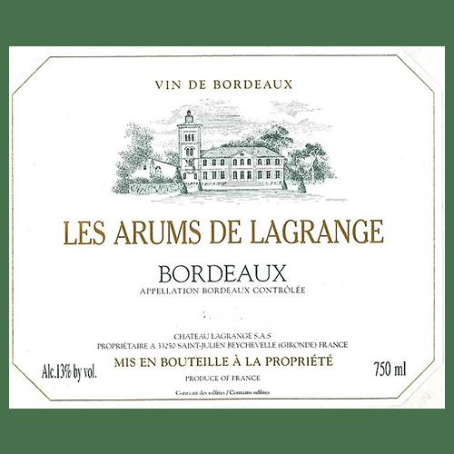 de Coninck Wine Merchant Arums Lagrange - Bordeaux - blanc 2020 ( caisse de 6 bout.)
