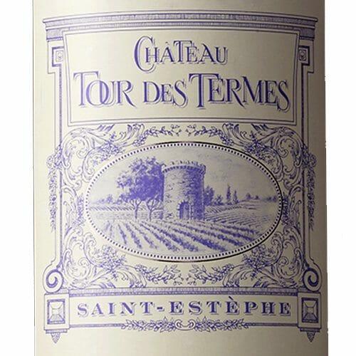 de Coninck Wine Merchant Château Tour des Termes (Hubert de Bouard), Saint Estèphe, 2020 ( caisse de 6 bout.)