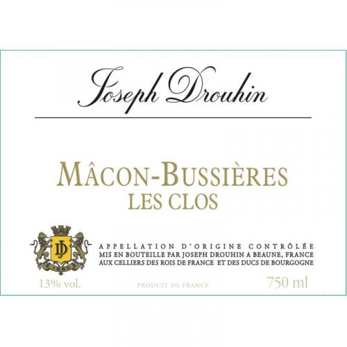 """de Coninck Wine Merchant Joseph Drouhin - Mâcon-Bussières """"les Clos"""" 2019 Bio"""