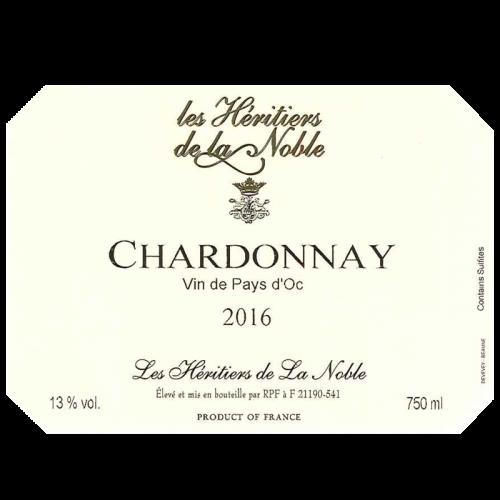 de Coninck Wine Merchant Les Héritiers de la Noble - Vin de Pays d'Oc - Chardonnay 2018
