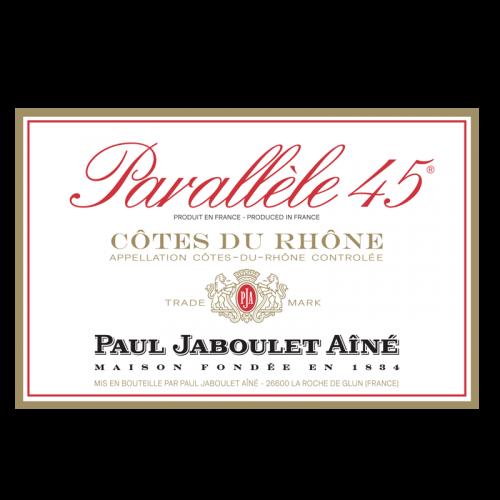 """de Coninck Wine Merchant Paul Jaboulet Aîné """"Parallèle 45 rouge"""" 2019 -BIO"""