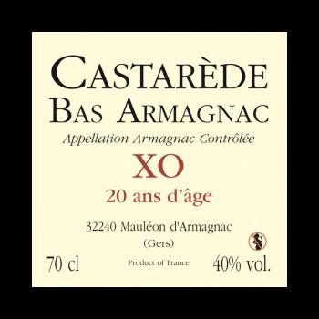 Bas-Armagnac Castarède XO Hors d'Age 20 ans d'âge Magnum 1,5L
