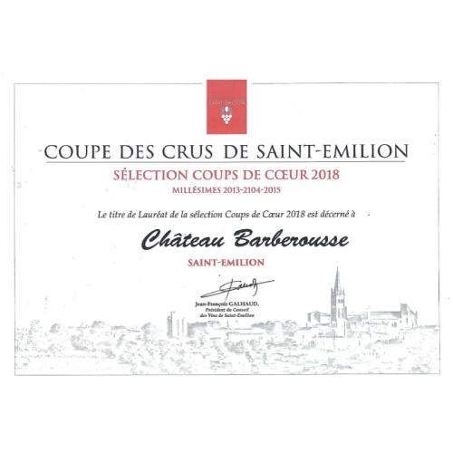 Château Barberousse - Saint-Emilion 2016