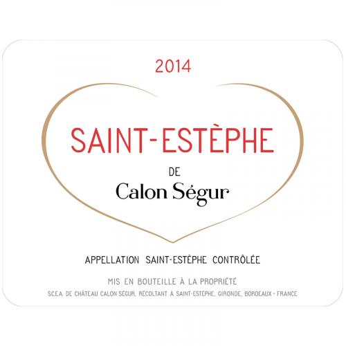 Château Calon Ségur, Saint Estèphe Grand Cru Classé, 2014