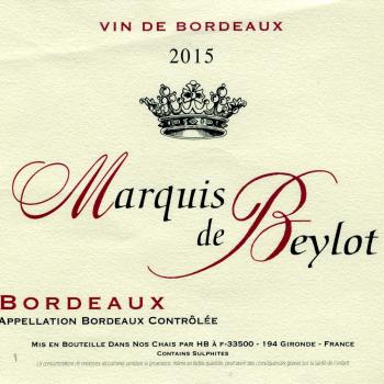 Marquis de Beylot, 2015, Bordeaux Supérieur