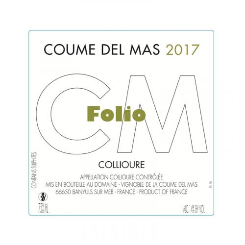 de Coninck Wine Merchant Coume Del Mas - Folio - Collioure blanc 2019/2020