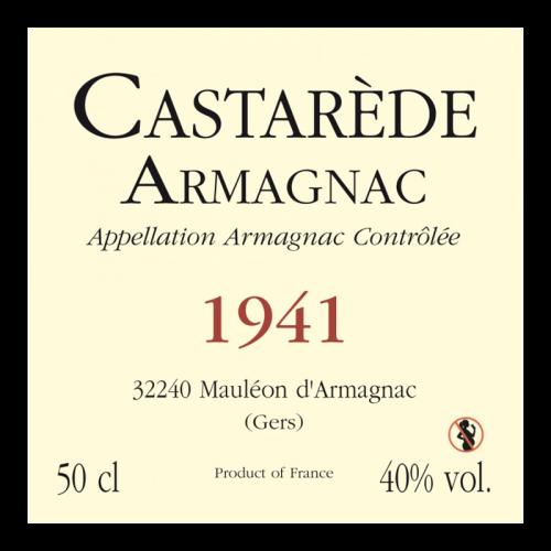 de Coninck Wine Merchant Bas-Armagnac Castarède Millésime 1943