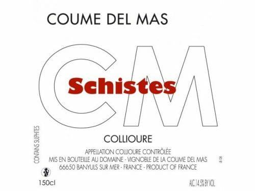 de Coninck Wine Merchant Coume Del Mas - Schistes - Collioure 2020