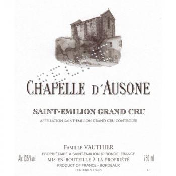 La Chapelle d'Ausone - 2nd Vin du Château Ausone - Saint-Emilion Grand Cru 2019