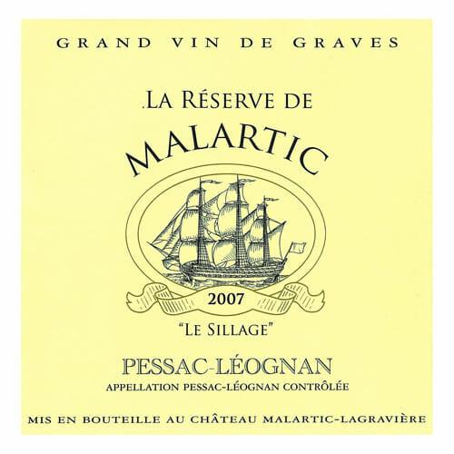 de Coninck Wine Merchant La Réserve de Malartic blanc - Pessac-Léognan 2018
