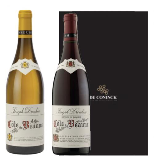 Coffret Joseph Drouhin Côte de Beaune blanc 2018 & Côte de Beaune rouge 2017