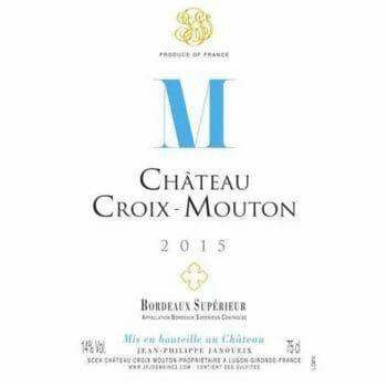 château croix mouton etiquette 2015 de coninck wine