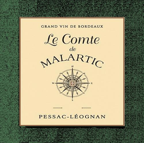 de Coninck Wine Merchant Le Comte de Malartic, second vin Blanc du Château Malartic-Lagravière, Pessac-Léognan 2020 (caisse de 6 bout.)